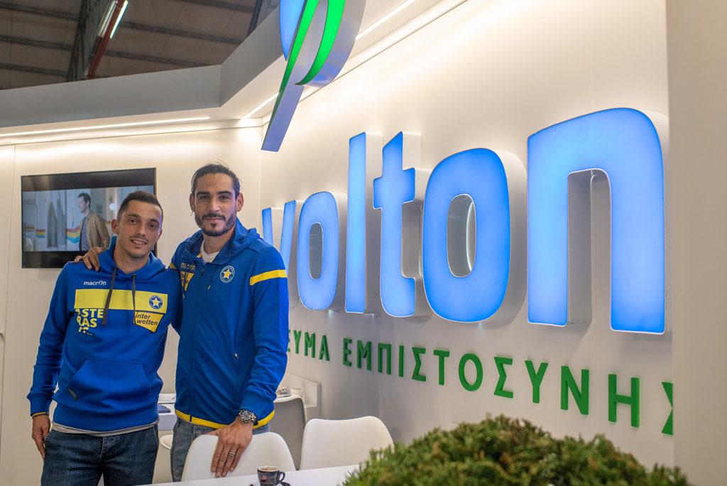 Οι παίκτες του Αστέρα Τρίπολης, Matias_Iglesias και Γιάννης Κώτσιρας